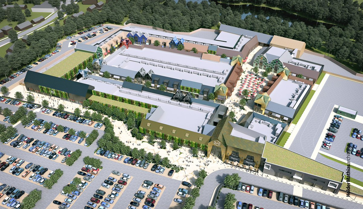 Mill Green outlet village artist's impression